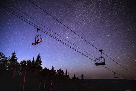 night with stars photograph