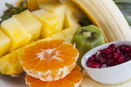 several sliced fruits