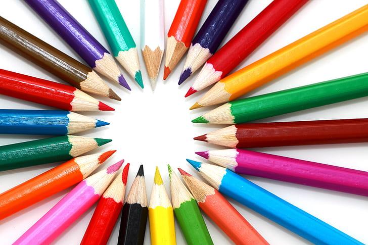 assorted-color pencil lot