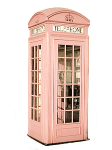 photo of pink Telephone Booth