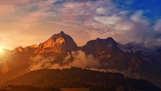 rocky mountain duringsunset