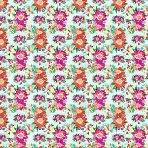 white, orange, and purple flowers wallpaper