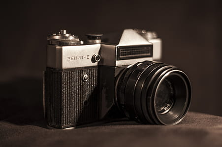 Black and Grey Dslr Camera