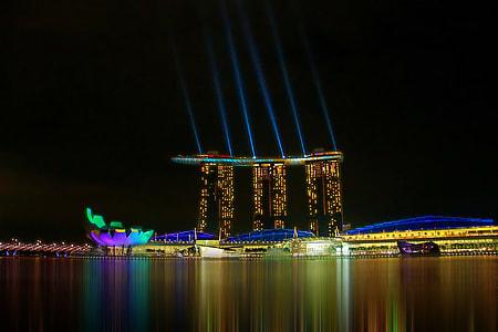 Marina Bay Sands during nighttime