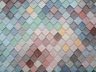 assorted-color tile lot