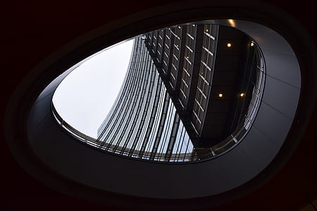 low-angle architectural photography of gray building