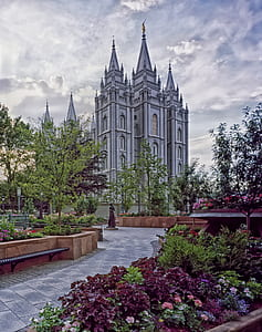 photo of white concrete cathedral
