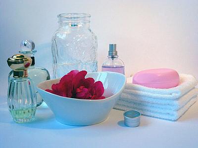 white ceramic bathroom containers