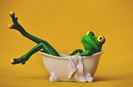 Frog bathing