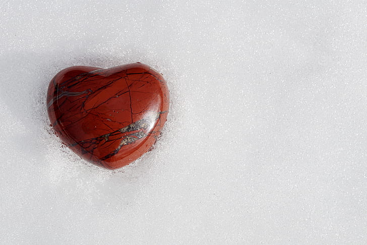 red heart-shaped wooden decor