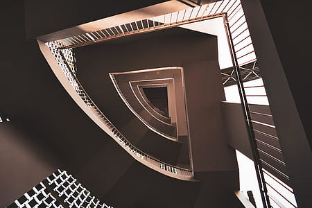 brown concrete staircase photo