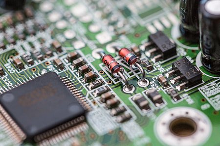 Electronics Chip Board Hardware Close Up