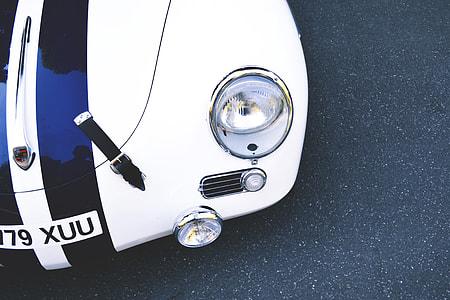 Cropped shot of a classic Porsche sports car