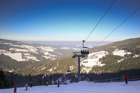 Austria Ski Lift Panorama