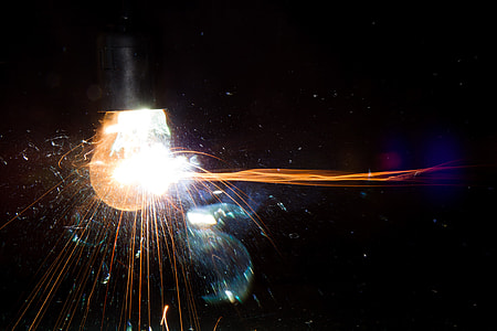 exploding incandescent bulb