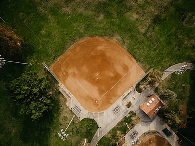 top view of baseball field