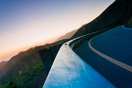 hi-way along mountain range