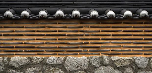 gray stone fence