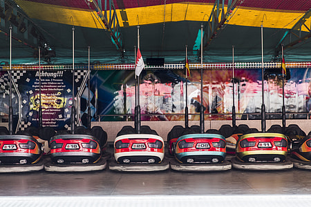 assorted color bumper carts