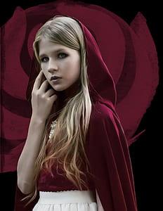 girl wearing red hood