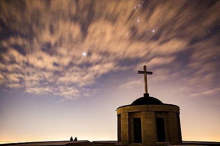 gray concrete church under white cloudy sky