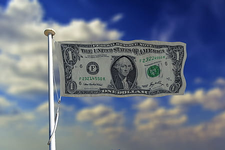 photo of 1 U.S. dollar banknote flag