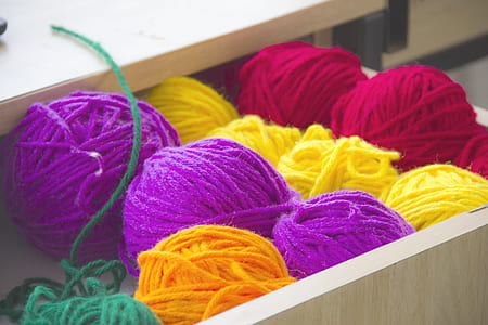 Close-up Photography of Colorful Yarns