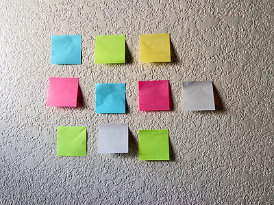 assorted-color stickey notes lot
