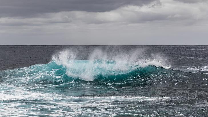 Sea Water Waves during Daytime