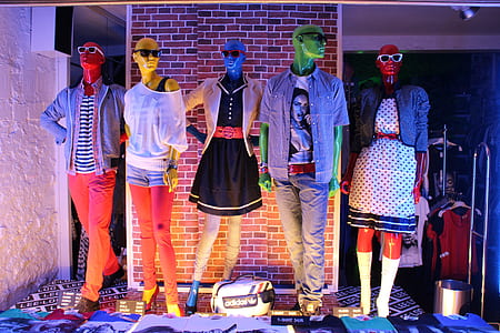 human's assorted display clothes