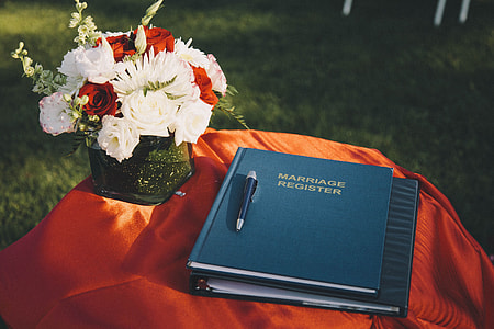 Register book at wedding