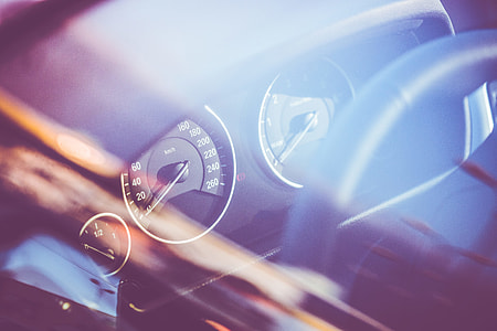 Speed-O-Meter in a Car Through Window