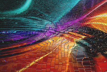 assorted-color textile