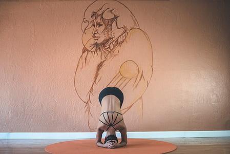 person body flexing illustration
