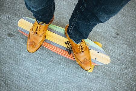 person riding cruiser board