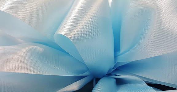 close up photo of blue ribbon