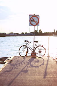 Sunset & bicycle