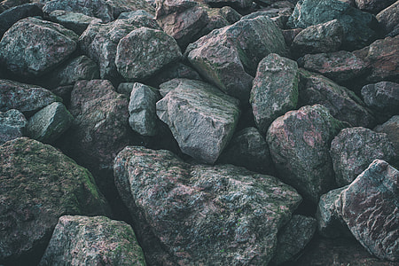 Wide angle shot of rocks on the coast of Kent in England, image captured with a Canon 5D DSLR