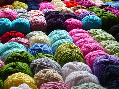 assorted-color yarn lot