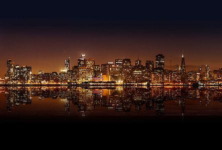 photo of city skylines