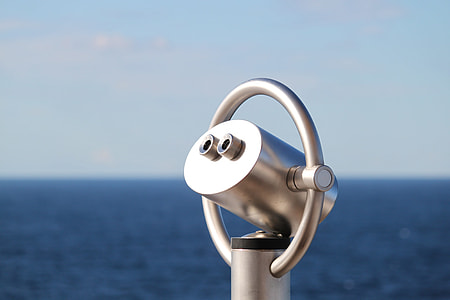 gray steel coast telescope