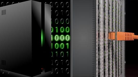 black computer server