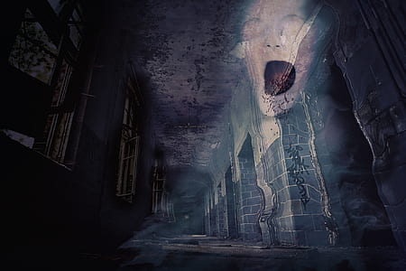 ghost on wall painting
