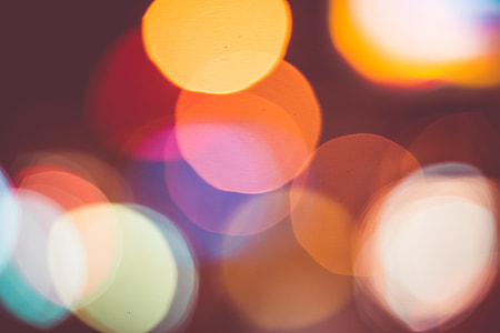 Big and Real Light Abtract Colorful Bokeh Background