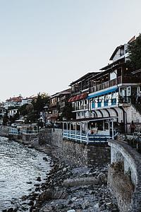 Coast in old city of Nessebar, Bulgaria