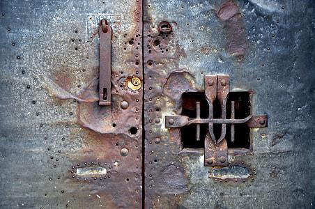 gray metal door