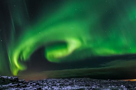 Night stars in Iceland