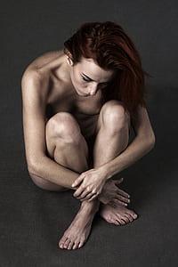 nude woman digital wallpaper