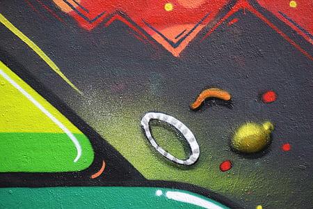 multicolored wall graffiti closeup photography