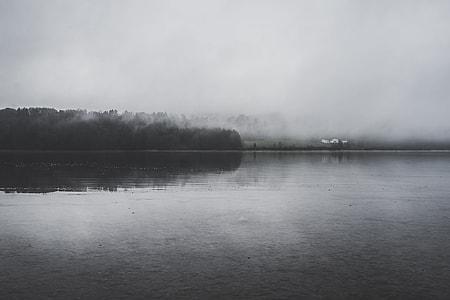 landscape grayscale photography